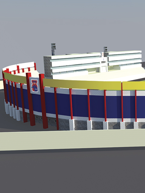 Vila Capanema 3D. estádio Durival Britto e Silva